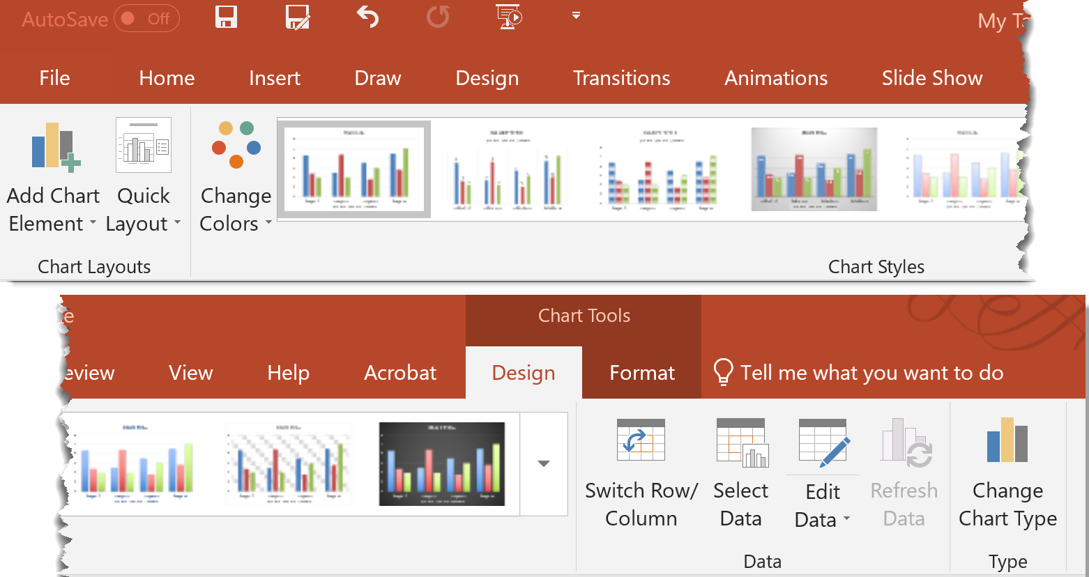 Chart Tools Design Tab