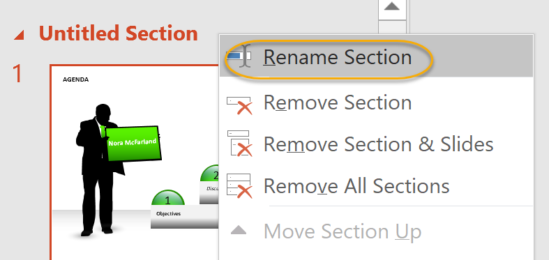 Rename  Section