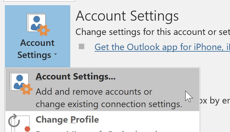 Account Settings Command