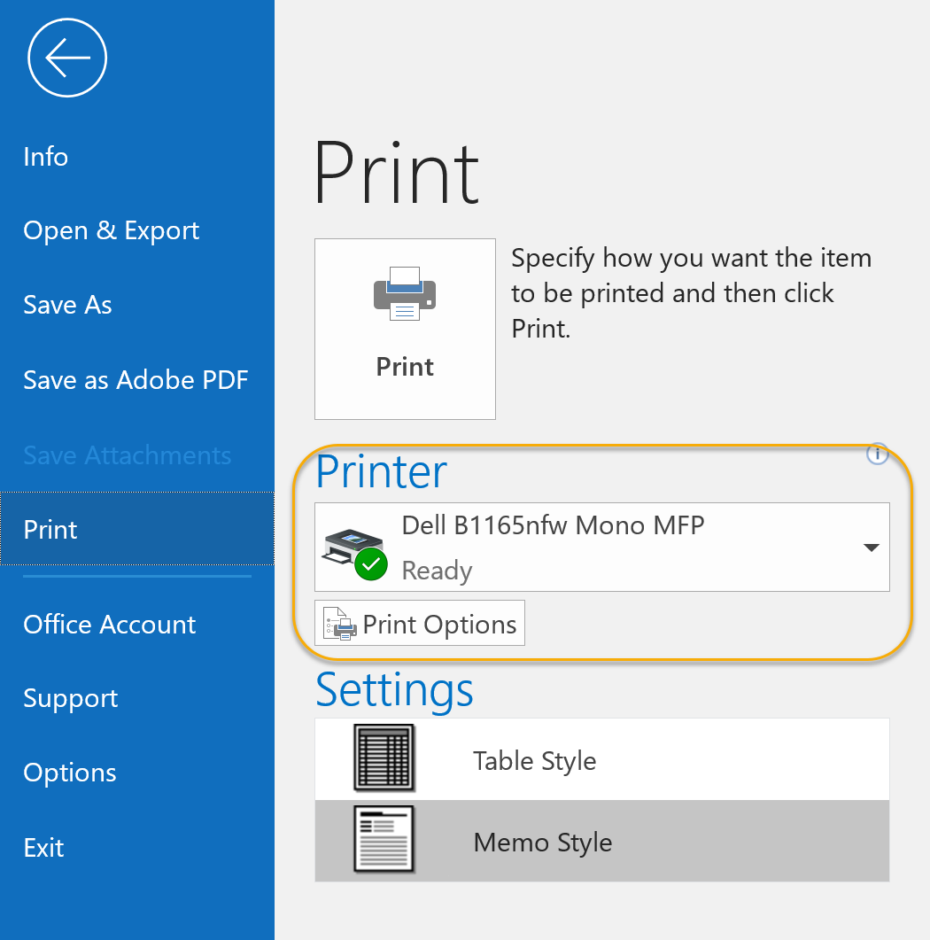 Printer Section