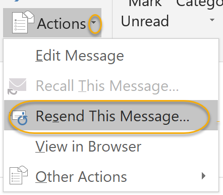 Resend Message