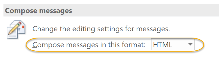 Compose in this format Drop-Down List