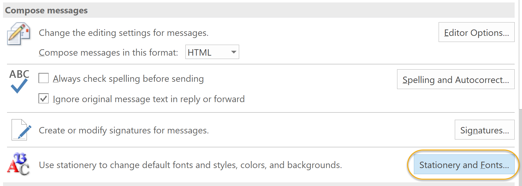 Compose Message Command