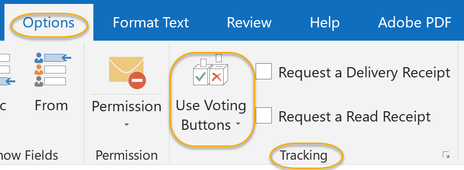 Use Voting Buttons Command