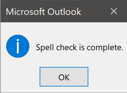 Click OK in Message