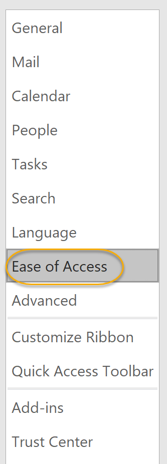 Ease of Access