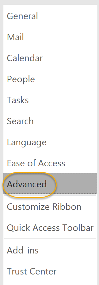 Advanced Tab