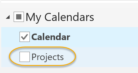 Calendar Appears in My Calendar