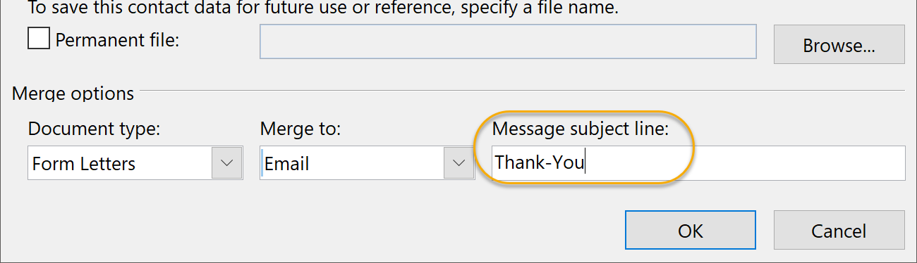 Message Subject