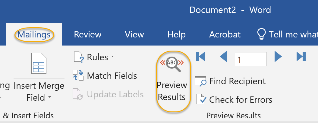 Preview Results Command