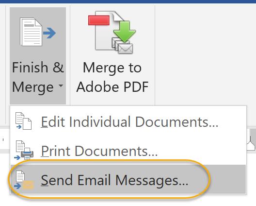 Send E-mail Messages Command