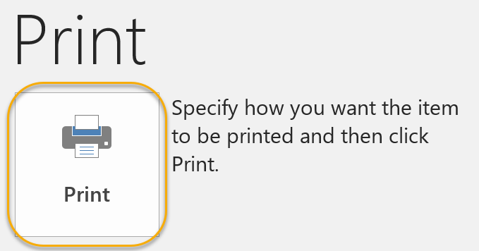 Configure Print Options