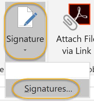 Signatures Command