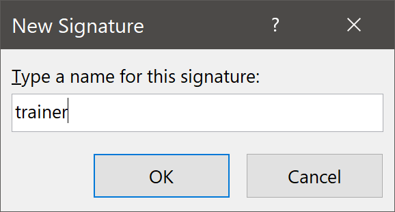Name for Signature