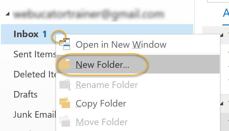 New Folder Command