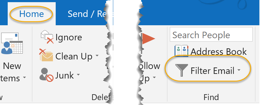 Filter E-mail Command