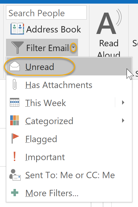 Filter Unread Messages