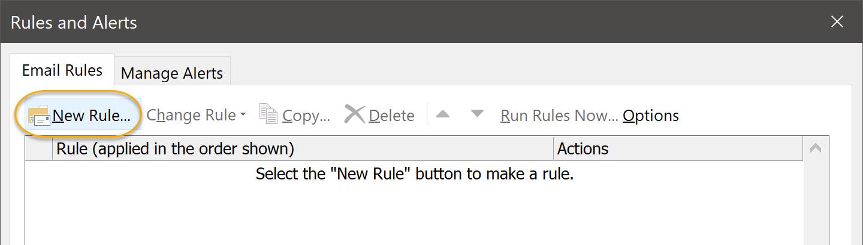 New Rule Command