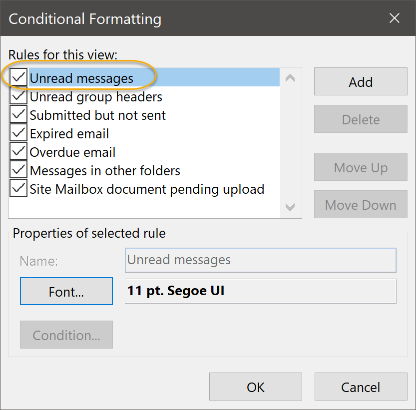 Unread messages Command