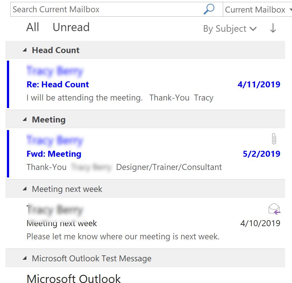 Organized in Inbox