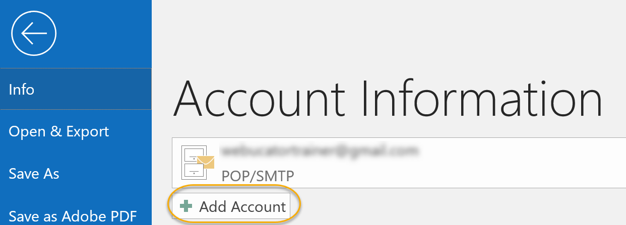 Add Account Command