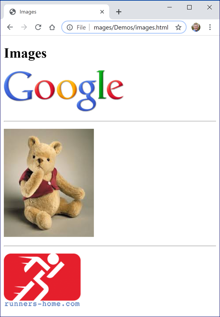 Google Image Page Example