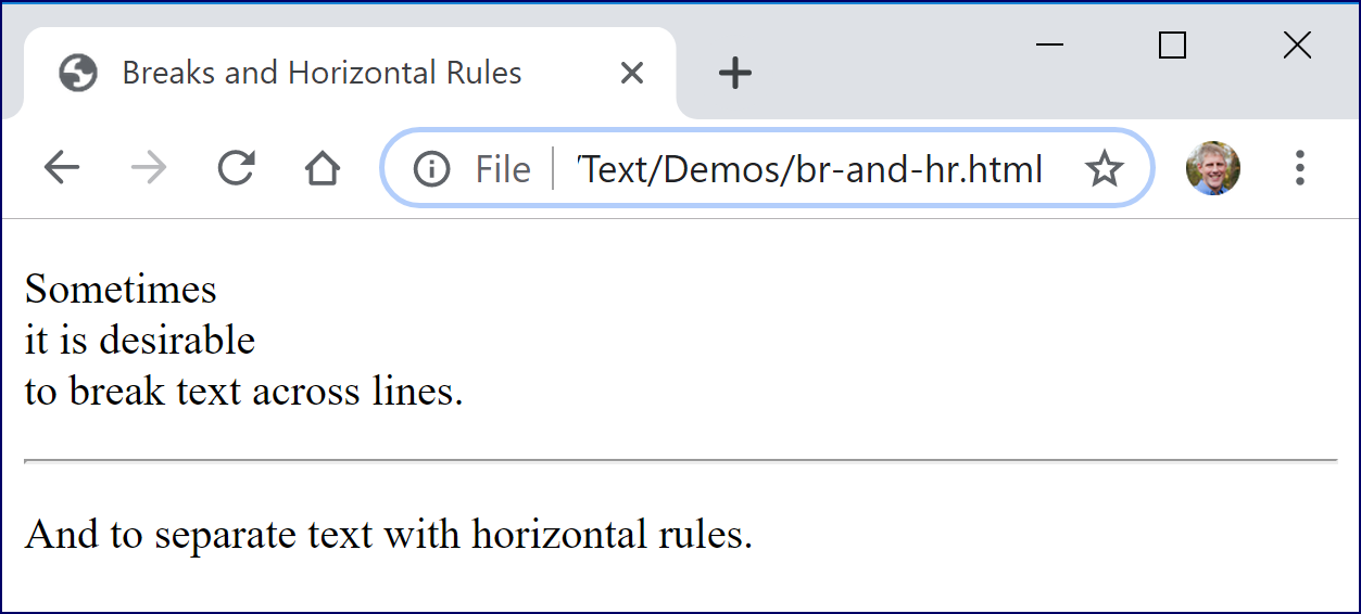 Horizontal Rules