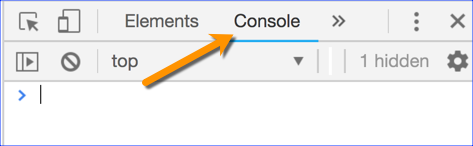 Google Developer Tools Console