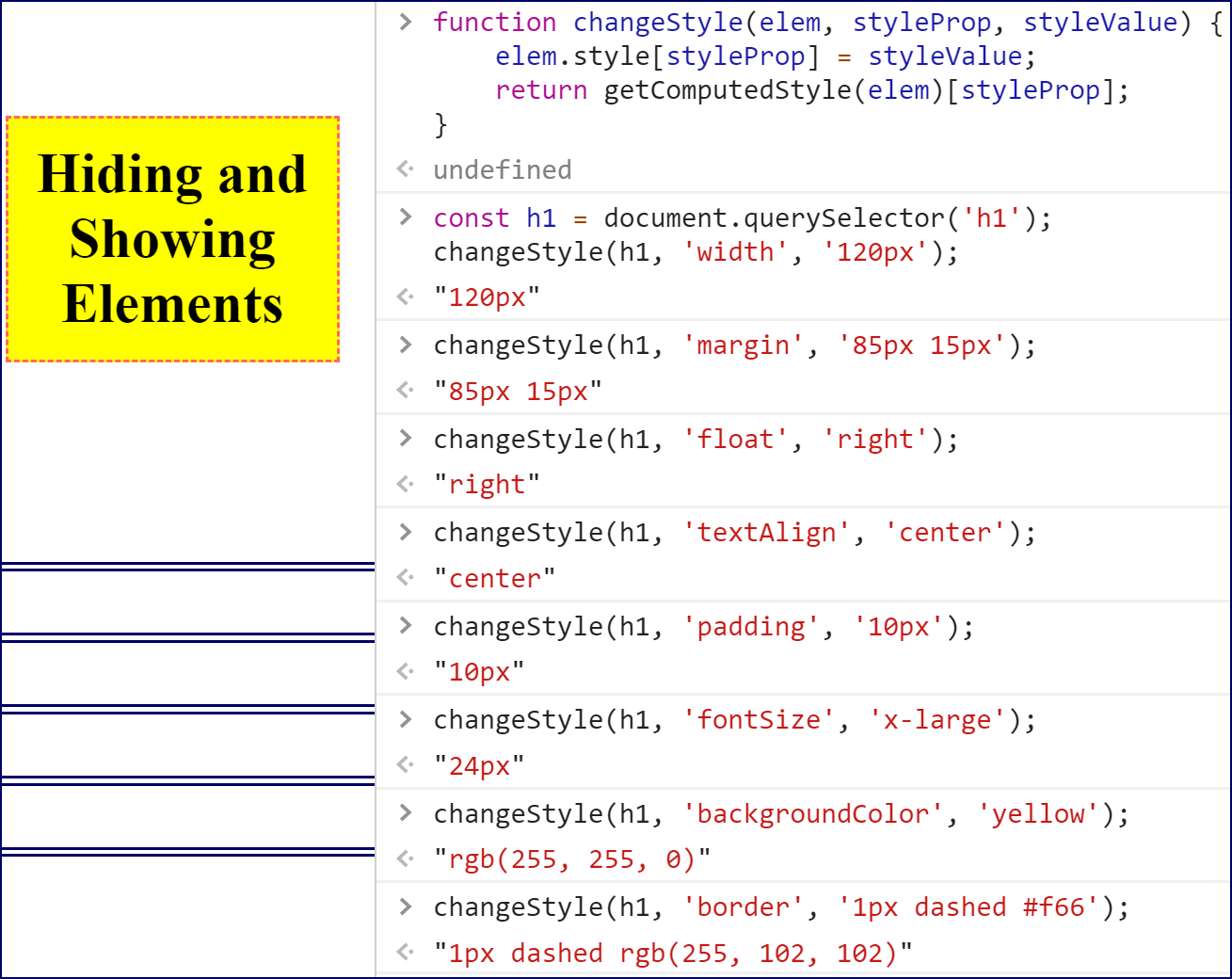 Changing Styles in DevTools.